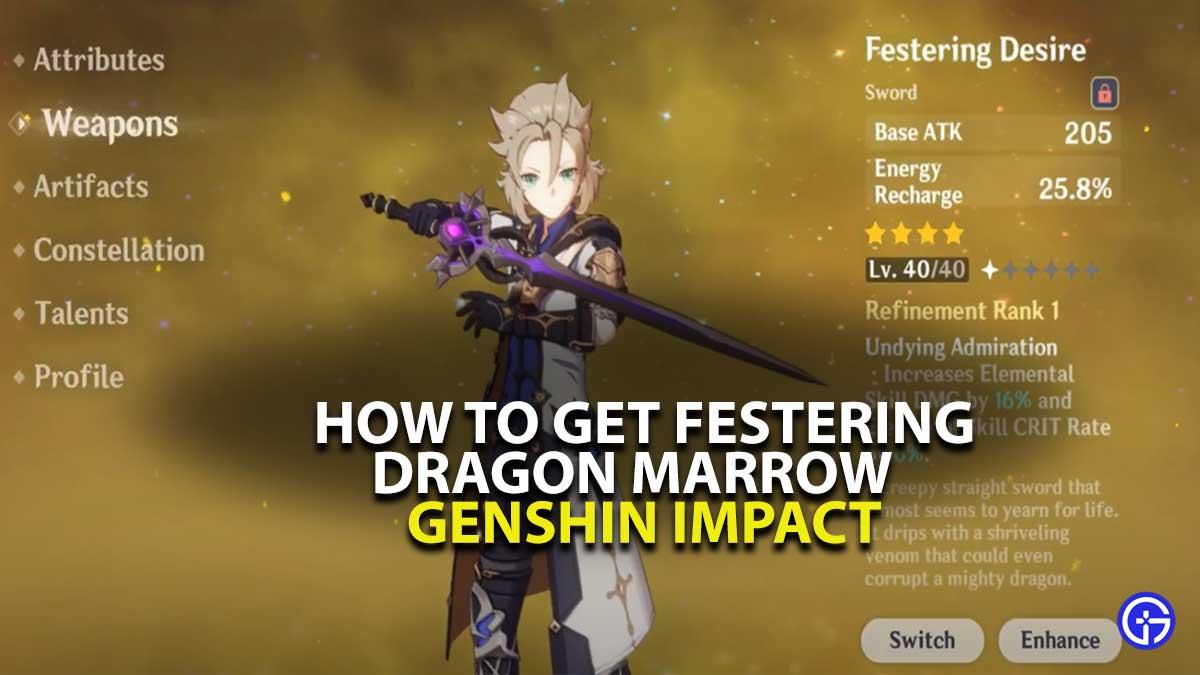 Genshin Impact Festering Dragon Marrow Guide