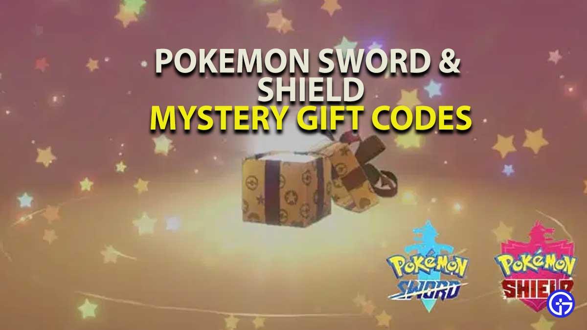 Pokemon Sword Shield Mystery Gift Codes
