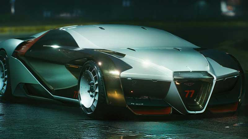 Rayfield Caliburn best car vehicles in cyberpunk 2077