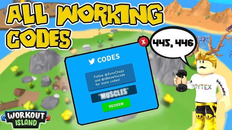 Workout Islands Codes List