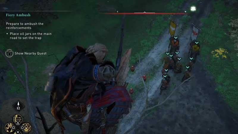 AC Valhalla Fiery Ambush Quest Location