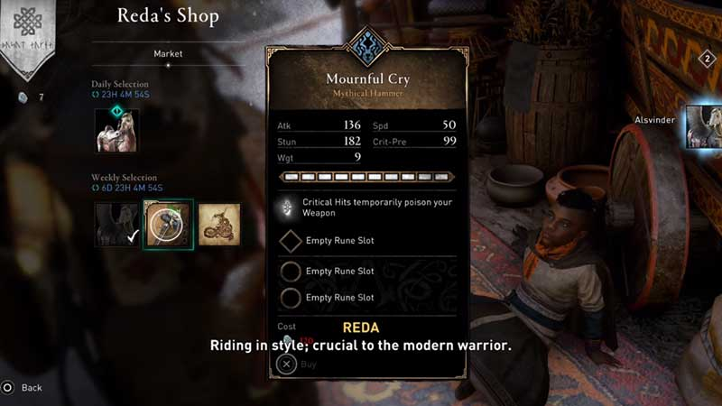 AC Valhalla Mournful Cry Hammer Weapon