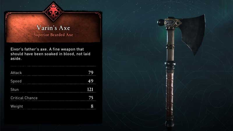 what is the best axe in assassin's creed valhalla