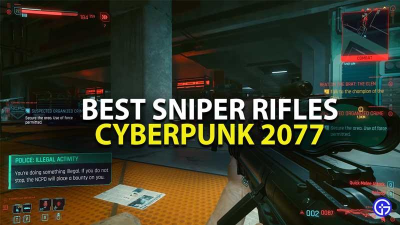 best sniper rifles in cyberpunk 2077