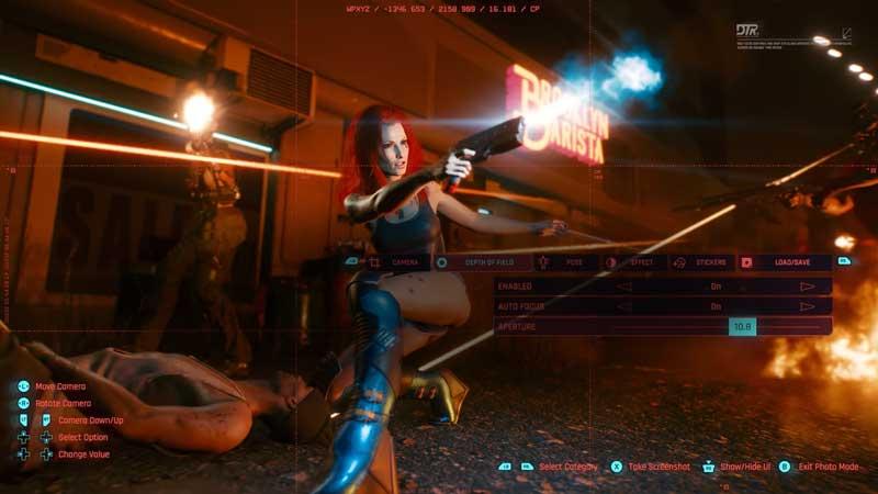 cyberpunk 2077 photo mode depth of field tab