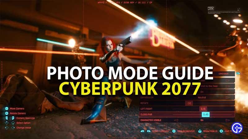 cyberpunk 2077 photo mode guide