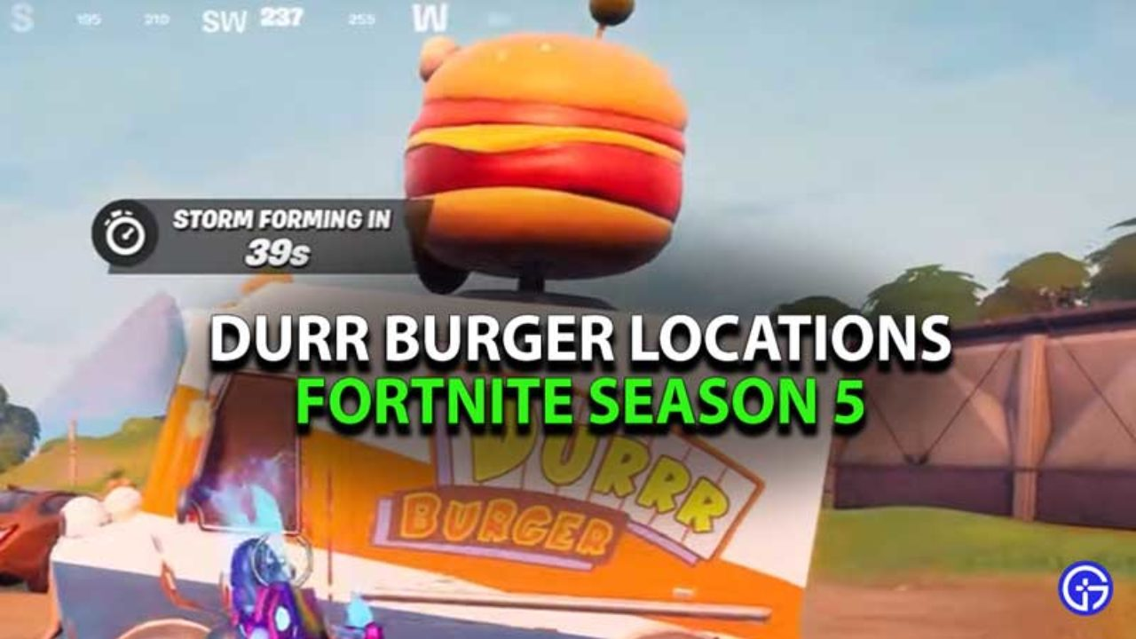 Fortnite Durr Burger Restaurant Food Truck Location Season 5 Drop into season 5, where we're introducing all kinds of changes to the map! fortnite durr burger restaurant food
