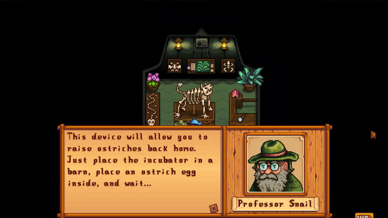 get ostrich incubator from professor snail