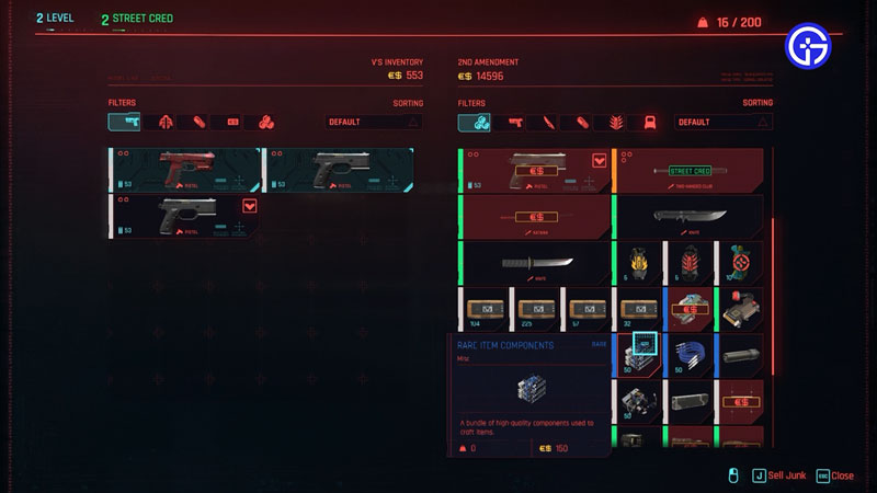 get upgrade components in cyberpunk 2077