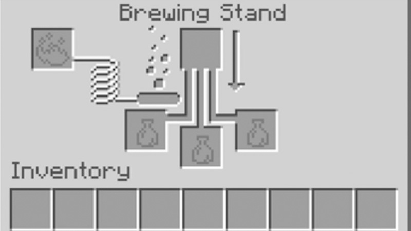 how to brew splash potion of weakness in minecraft