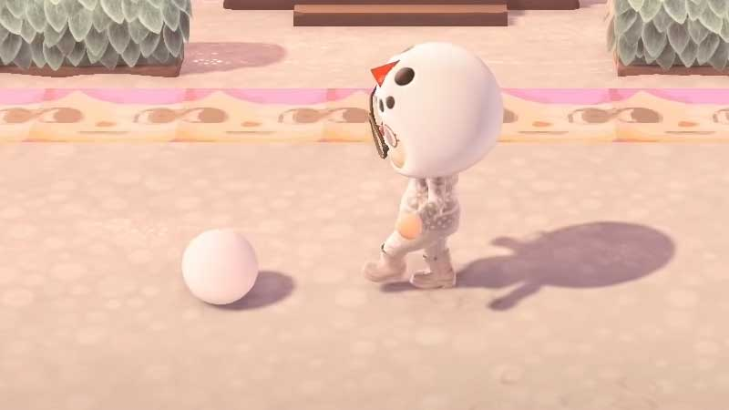 how to build snowman animal crossing new horizons