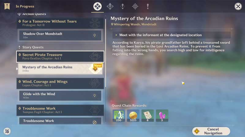 how to complete mystery of the arcadian ruins in genshin impact