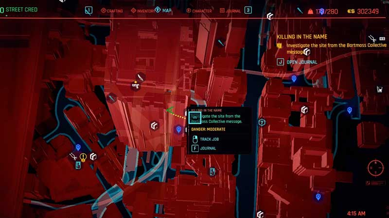 how to complete the investigate the site from the bartmoss collective message in cyberpunk 2077