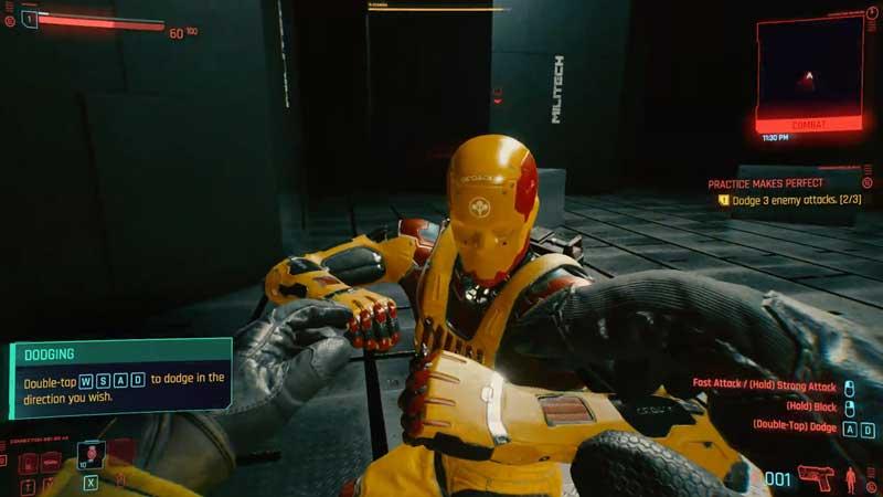 how to dodge in cyberpunk 2077
