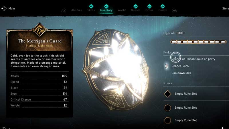 how to get morigan's guard shield in ac valhalla