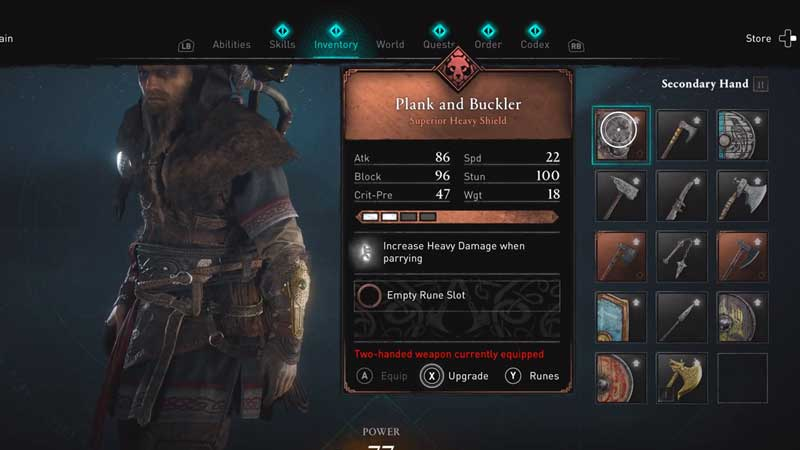 how to get plank and buckler shield in ac valhalla