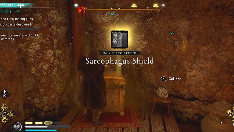 how to get the sarcophagus shield in assassin's creed valhalla