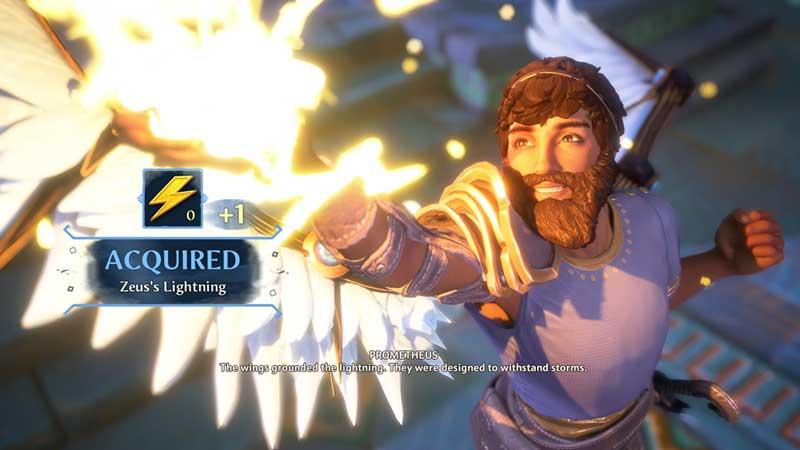 how to get zeus's lighting in immortals fenyx rising