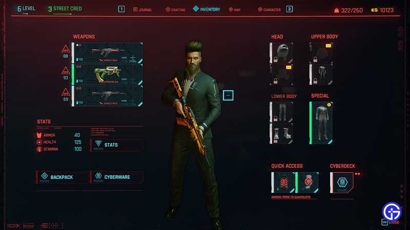 how to increase inventory size in cyberpunk 2077