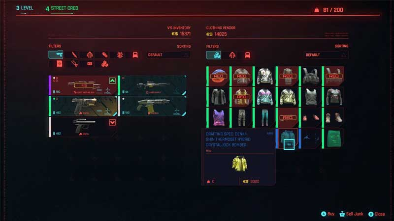 how to level up crafting in cyberpunk 2077