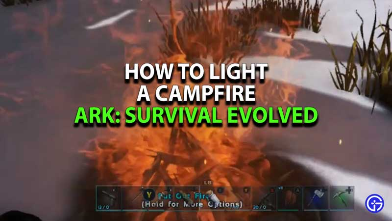 how-to-make-campfire-ark-survival-evolved