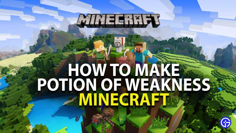 how to make potion of weakness in minecraft