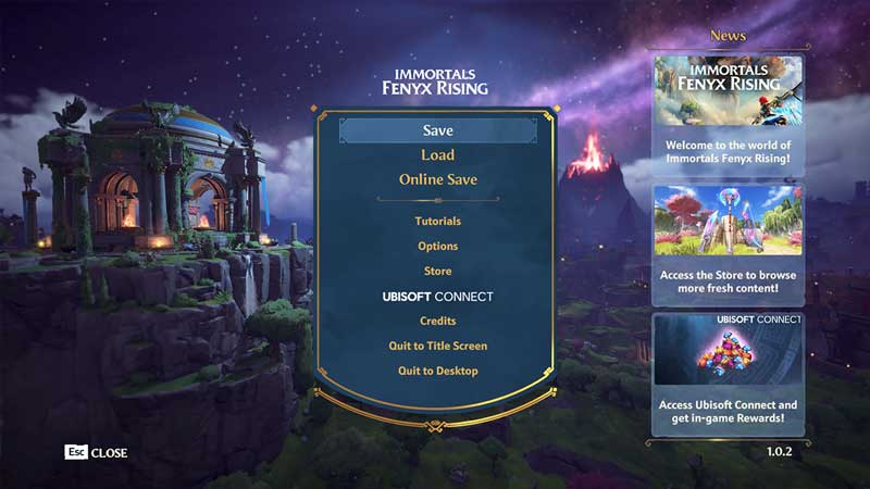 how to manually save your game progress in immortals fenyx rising