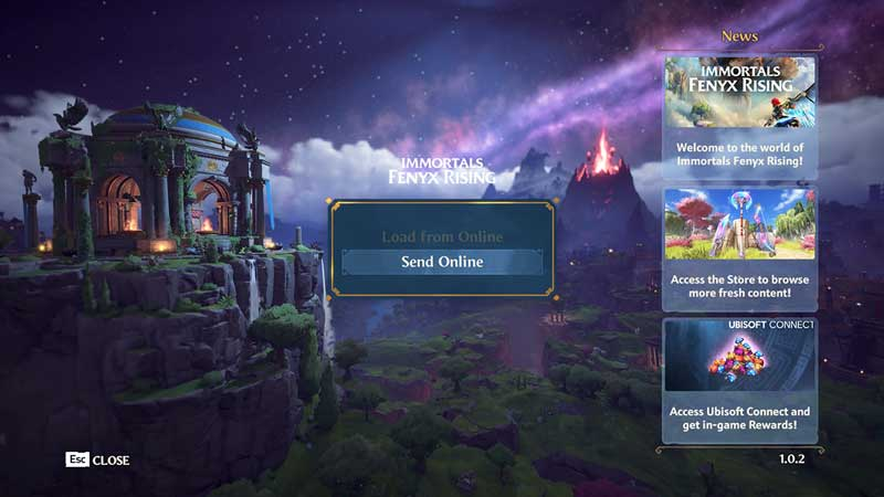 how to save your game online in immortals fenyx rising