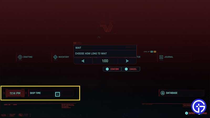 how-to-skip-time-cyberpunk-2077