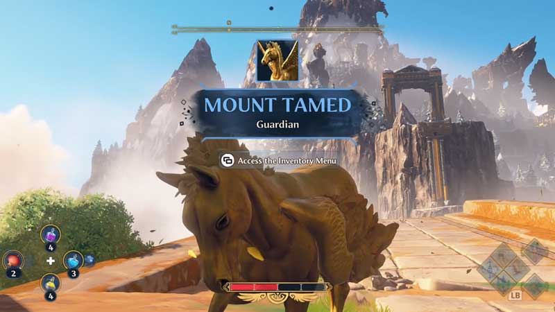 how to summon mount in immortals fenyx rising