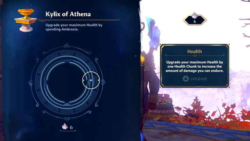 how to use kylix of athena to upgrade health chunk