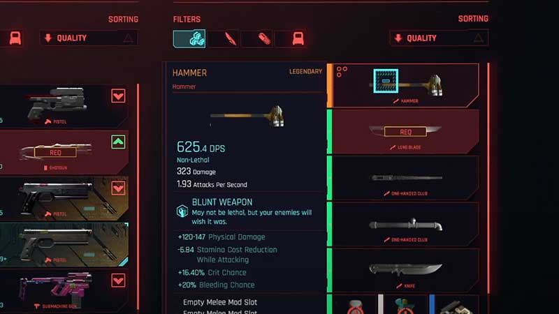 non-lethal-melee-blunt-weapons-cyberpunk-2077