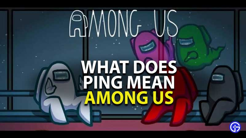 what does ping mean in among us