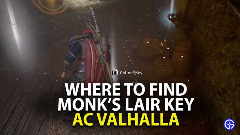 where to find monk's lair key location in assassin's creed valhalla