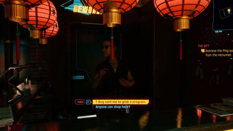 where to find yoko in the gift side job in cyberpunk 2077