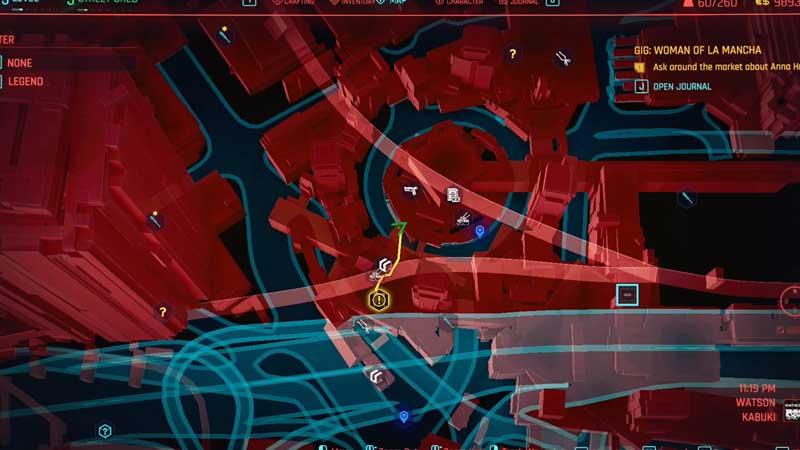 woman of la mancha side quest location in cyberpunk 2077