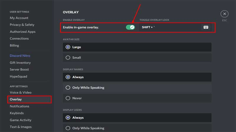 Discord Overlay Not Working Issue