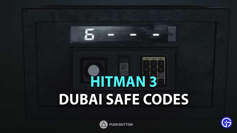 Hitman 3 Dubai Safe Code