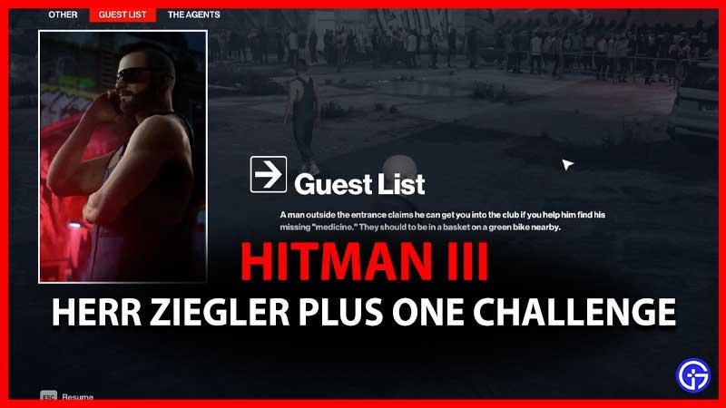 Hitman 3 Herr Ziegler Plus One Challenge