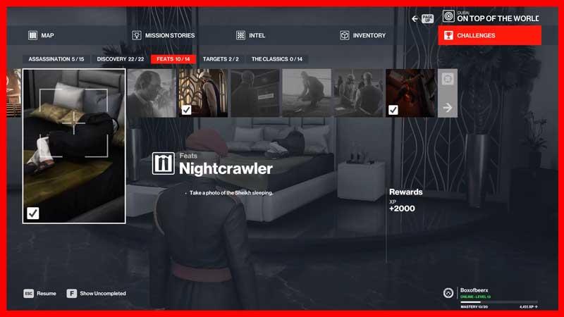 Hitman 3 Nightcrawler Challenge
