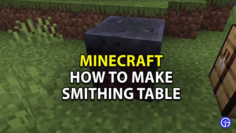 Minecraft-How-To-Make-A-Smithing-Table