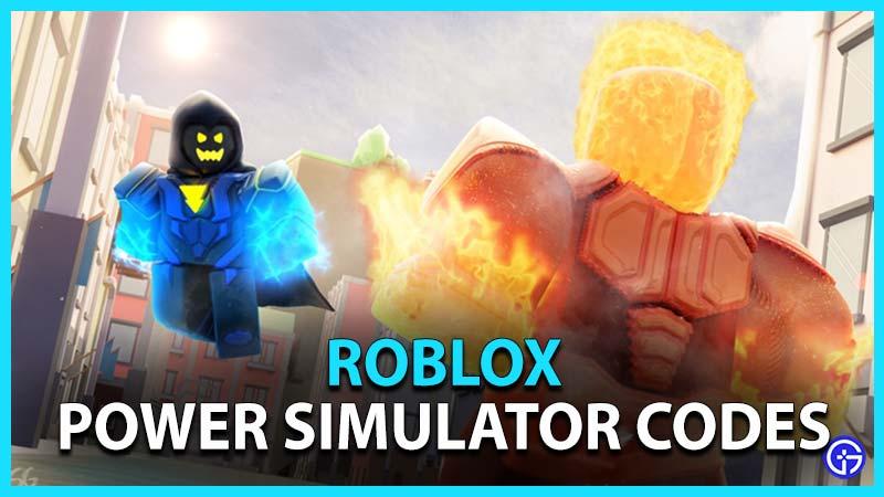 Roblox Power Simulator Codes