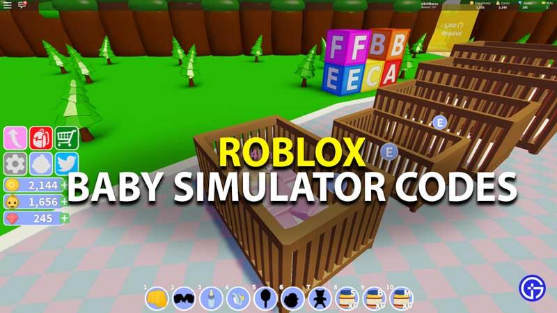 all roblox baby simulator promo codes