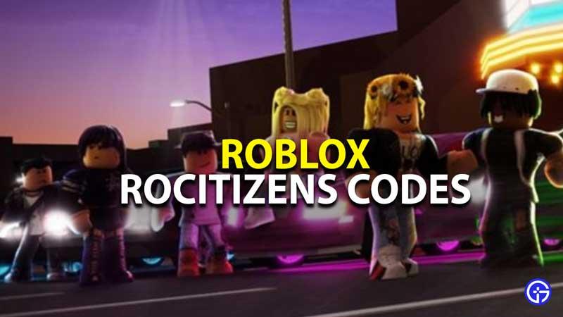 all roblox rocitizens promo codes