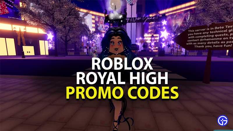 all royal high promo codes