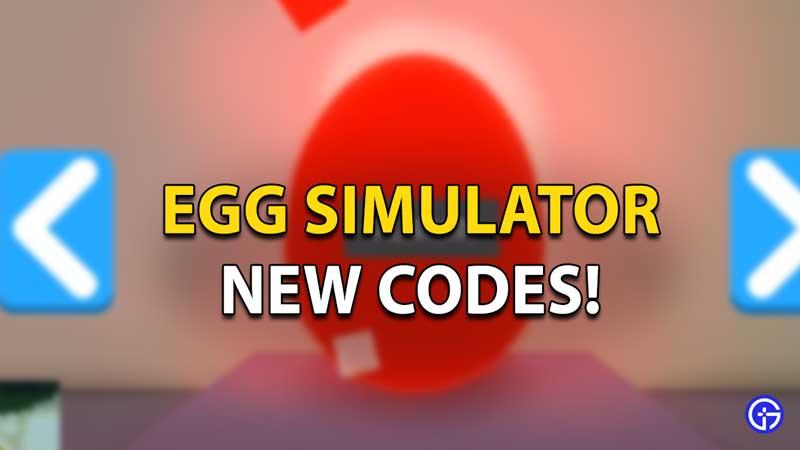 egg simulator codes
