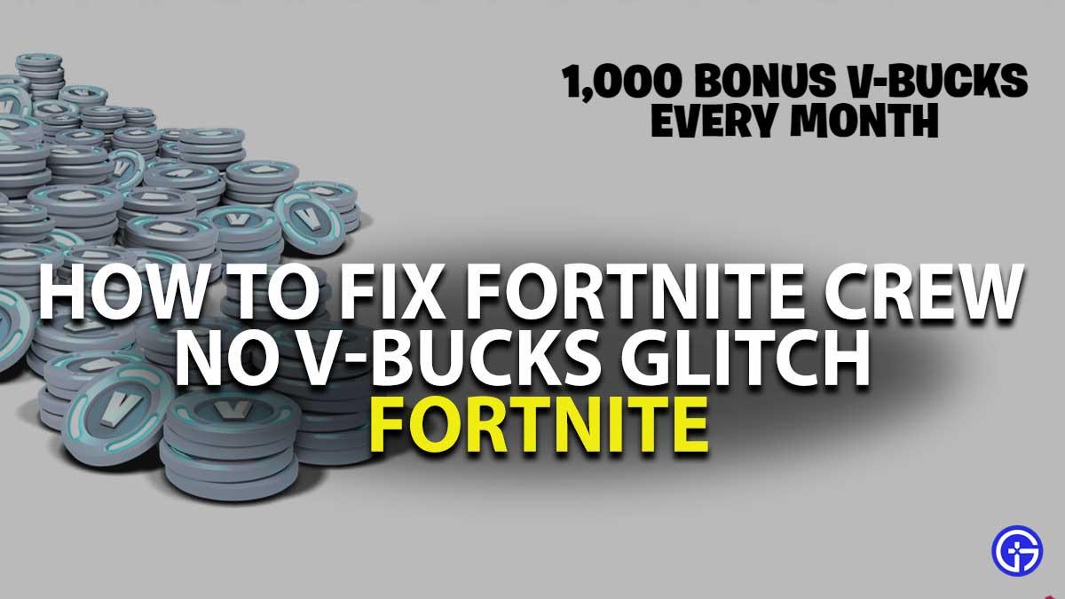 Fortnite Crew No-Vbucks Fix