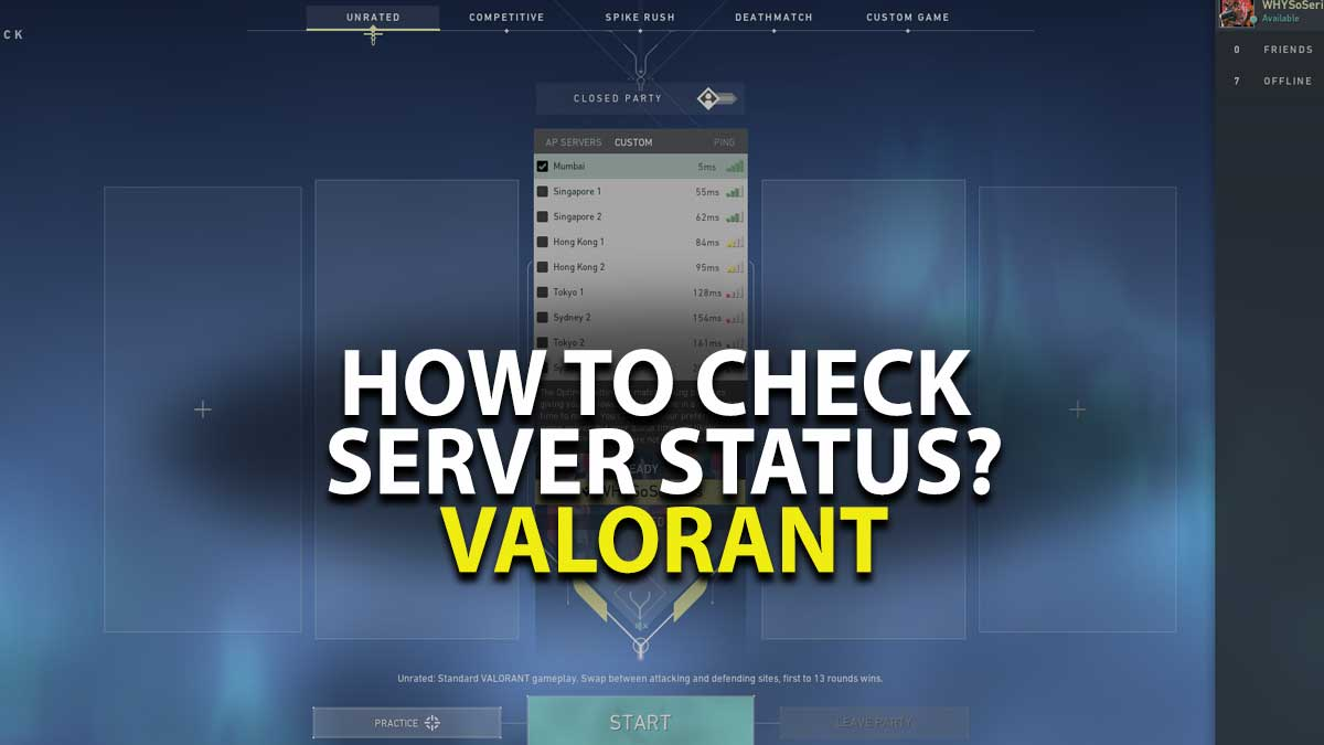 How to check Valorant Server Status?