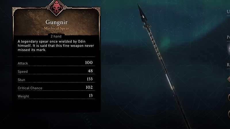 how to get gungnir isu weapon