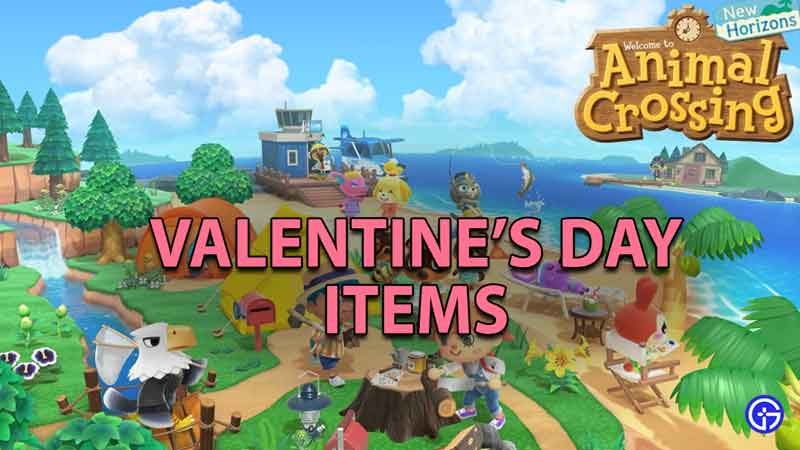 Animal Crossing New Horizons Valentine's Day Items